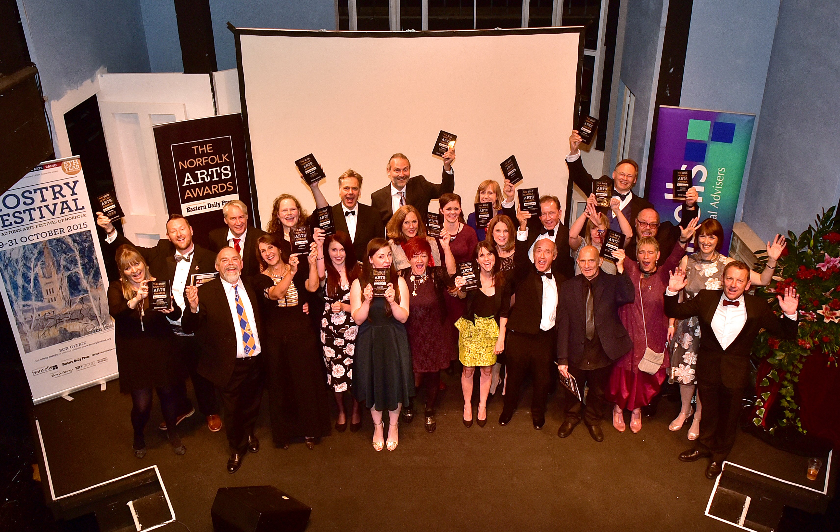 The 2015 Norfolk Arts Awards at The Maddermarket Theatre. The winners. Picture: ANTONY KELLY