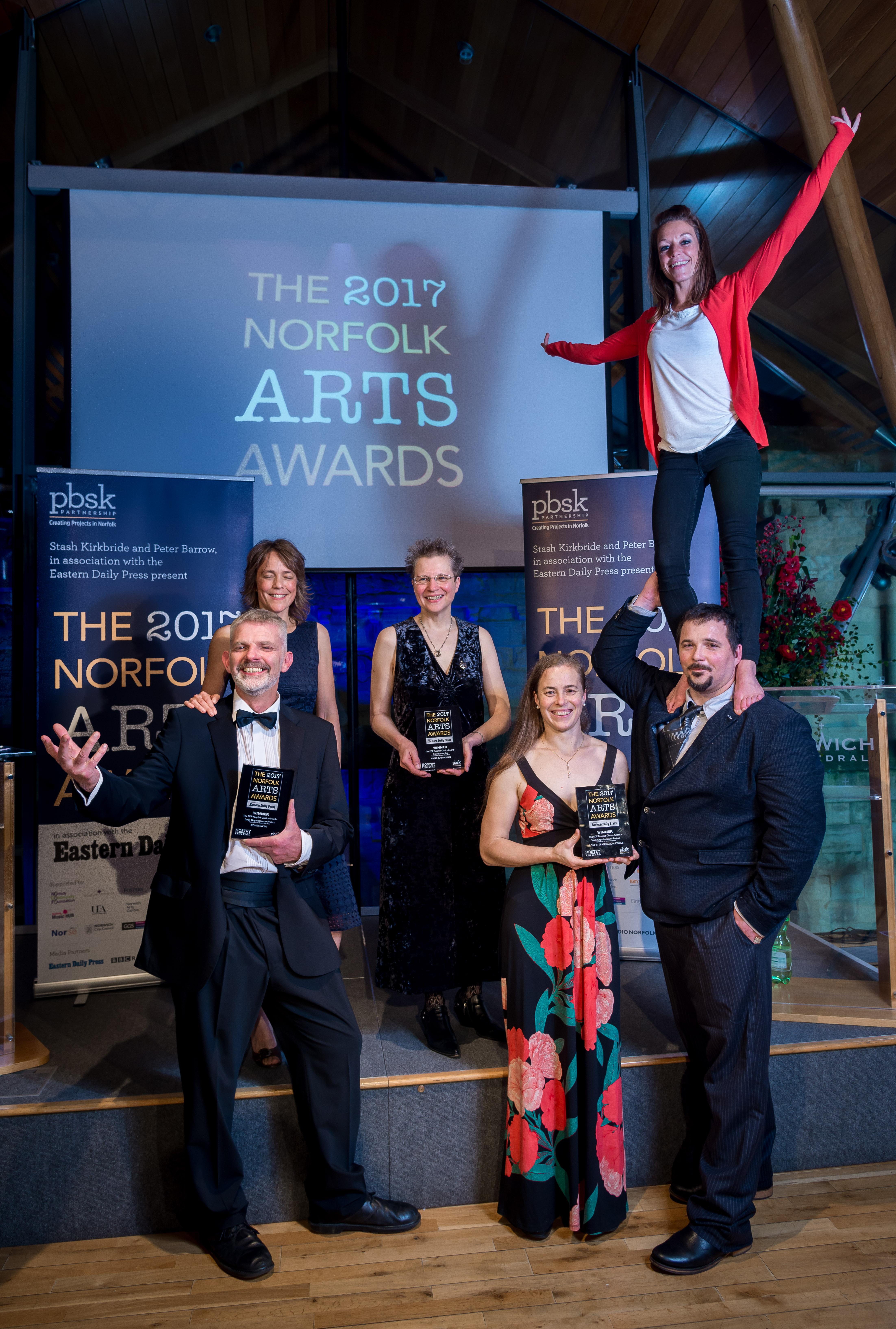 Norfolk Arts Awards 2017 at The Hostry at Norwich Cathedral. Photo credit ©Simon Finlay Photography.