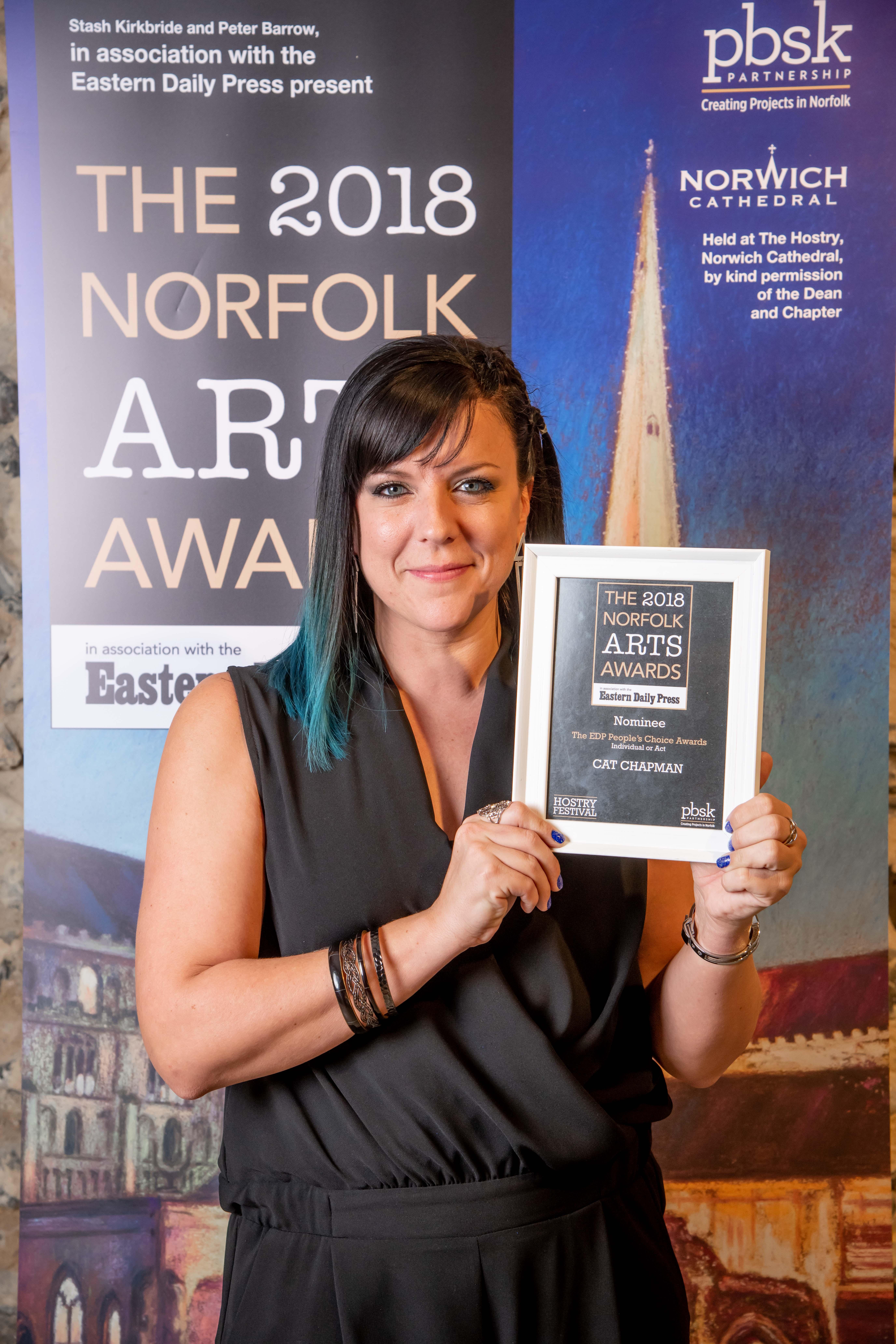 Norfolk Arts Awards 2018 at The Hostry at Norwich Cathedral. Photo credit ©Simon Finlay Photography.